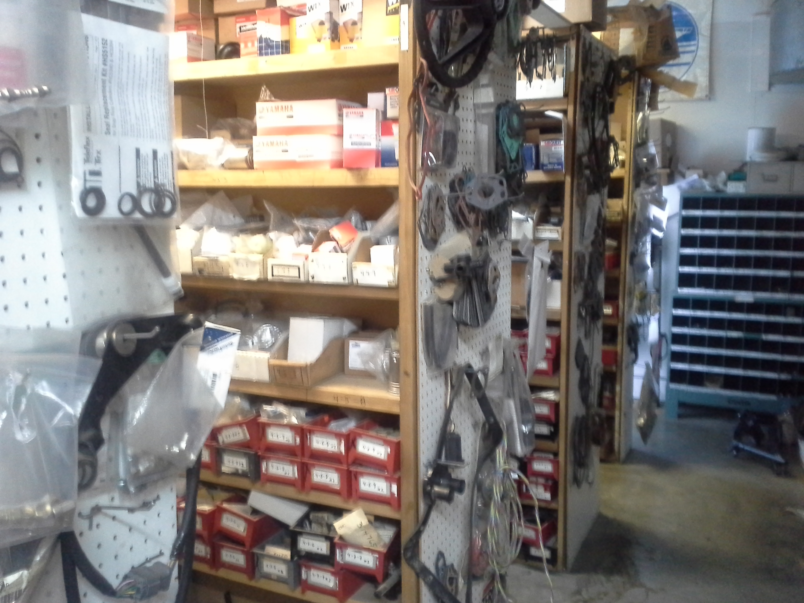 Back room motor part Inventory