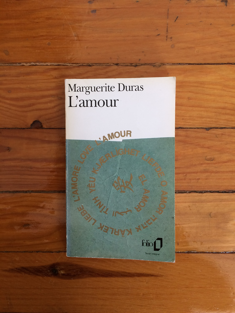 "Photo du livre ""L'amour"" de Marguerite Duras (1)"