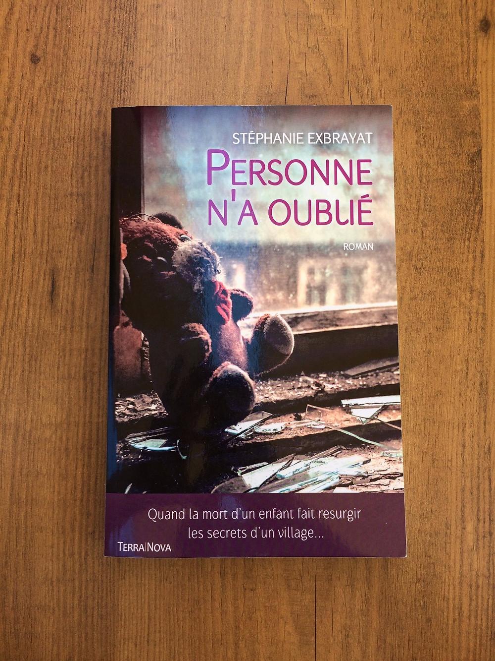 Photo du livre Personne n'a oublié de Stéphanie Exbrayat