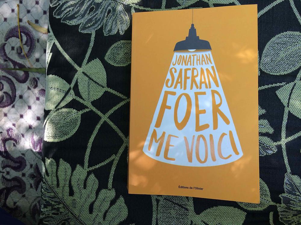 """Photo du livre """"Me voici"""" de Jonathan Safran Foer (2)"""