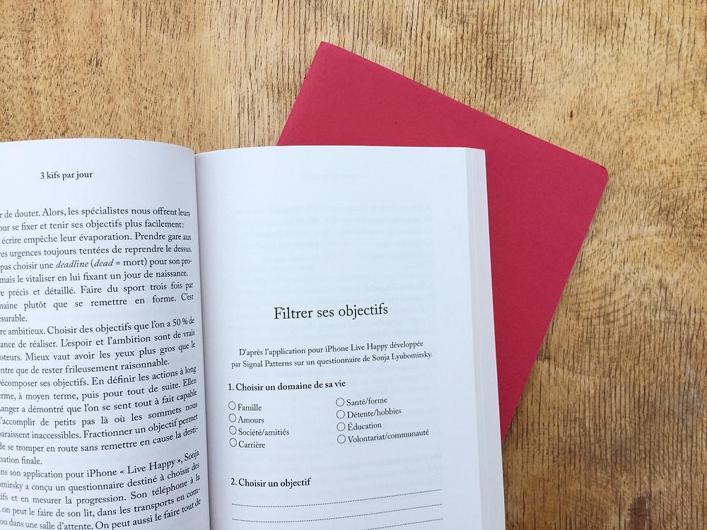 "Photo du livre ""3 kifs par jour"" de Florence Servan-Schreiber (2)"