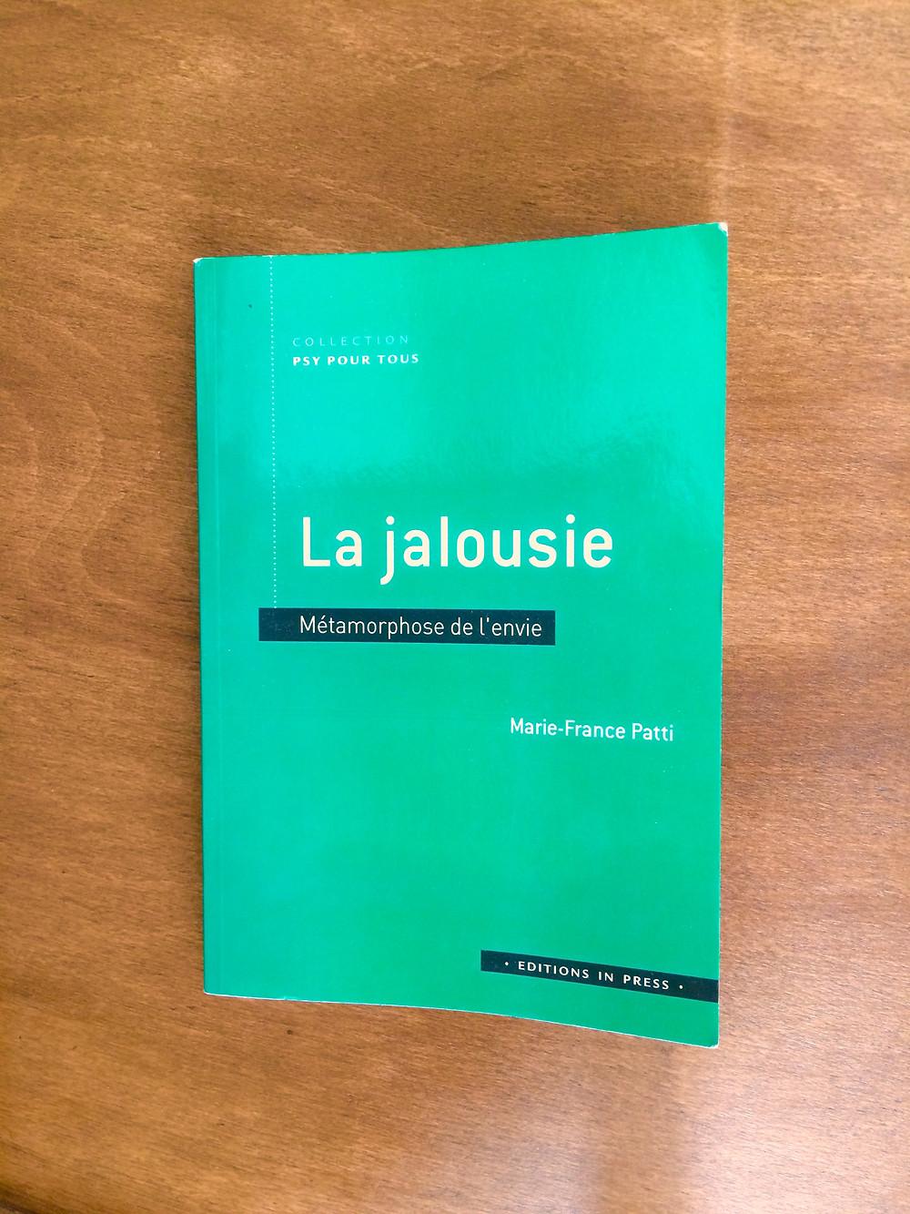 """Photo du livre """"La jalousie"""" de M.-F. Patti (1)"""