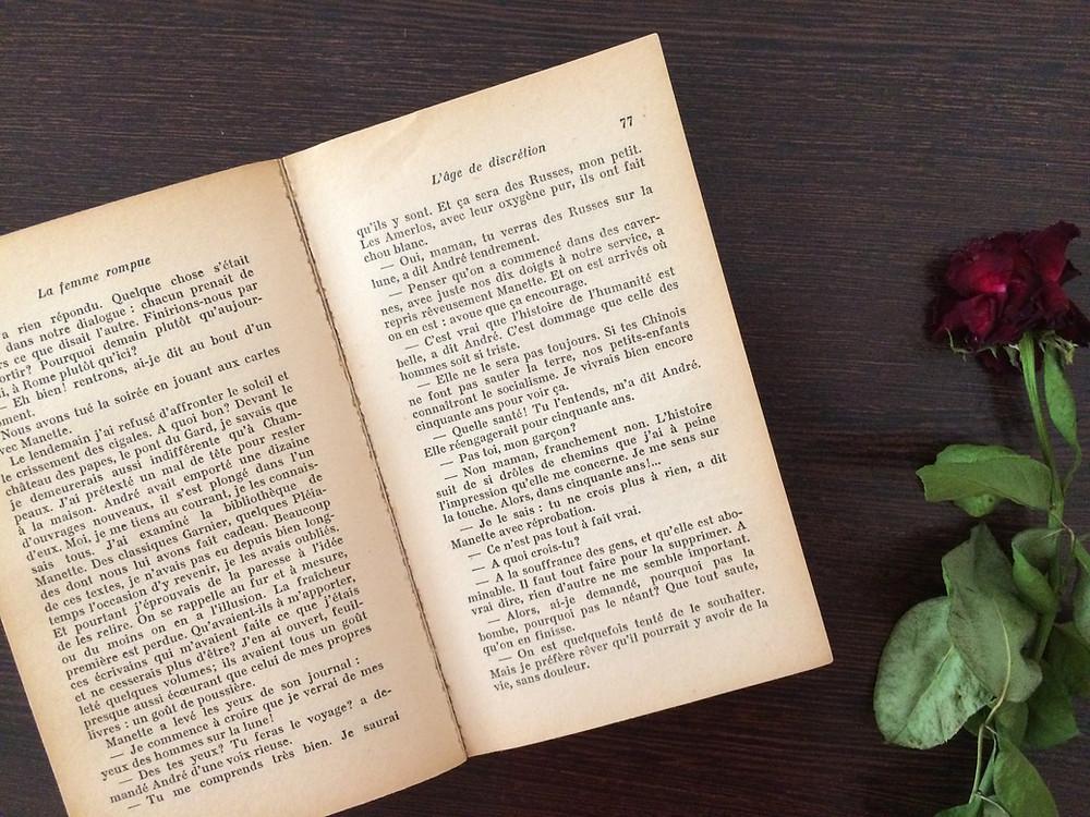 """Photo du livre """"La femme rompue"""" de Simone de Beauvoir (2)"""