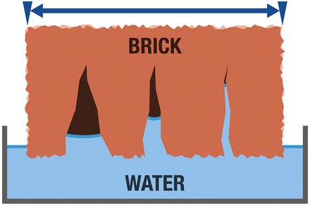 Corrosion in Brick water ingress | Rising Damp