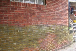 Discolouration on exterior Walls
