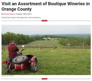 Vineyard, side by side motorctle, mountain landscape