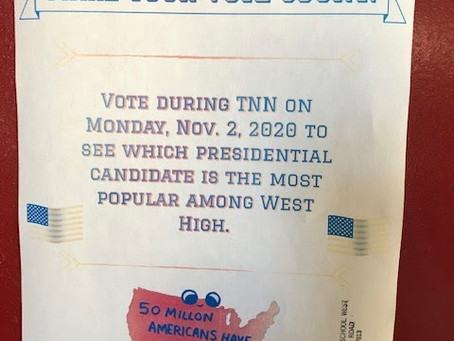Morristown West High Shares Mock Election Results
