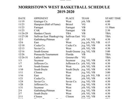 JV, Varsity Basketball Schedule