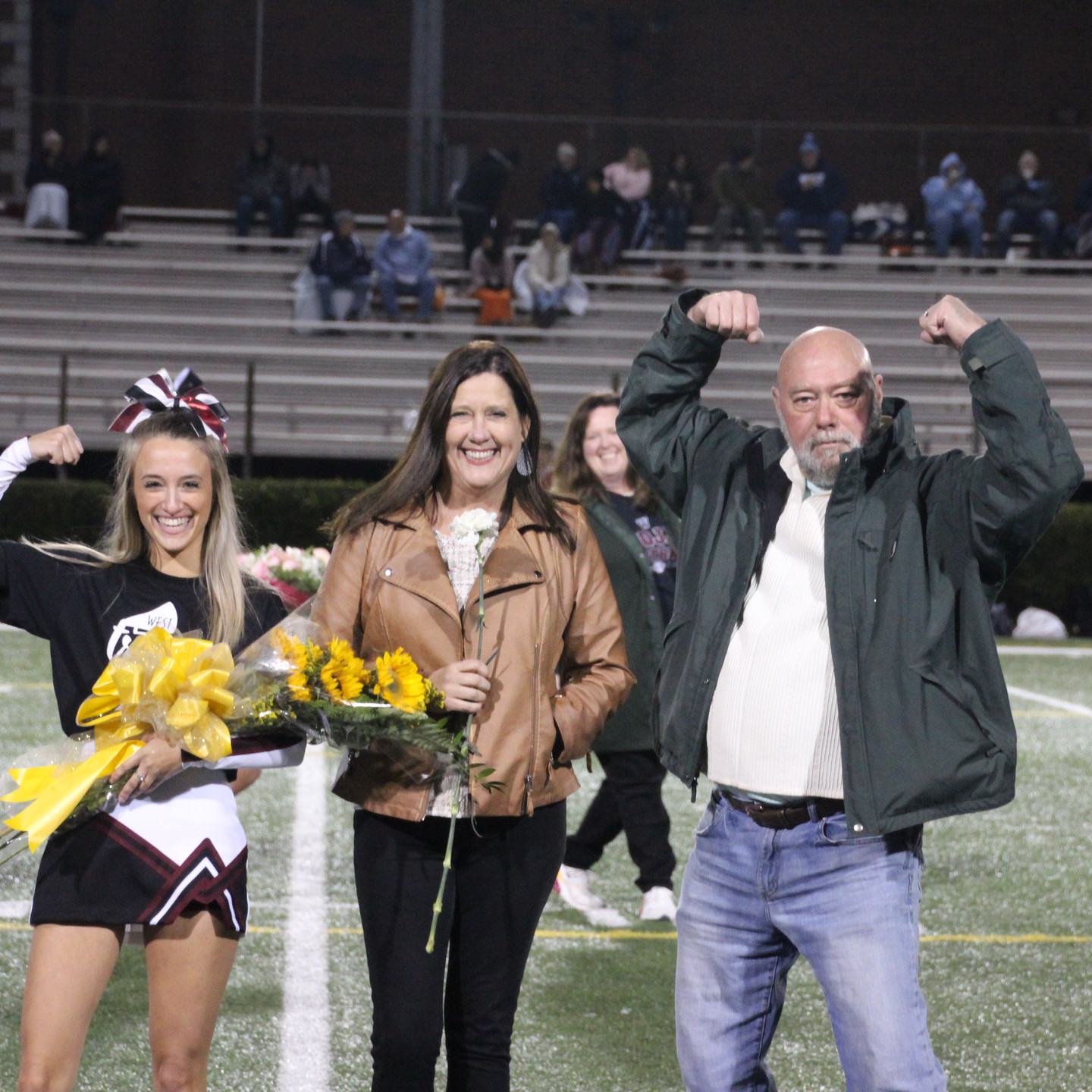 Alex Ailor escorted by Steve and Tamera Ailor