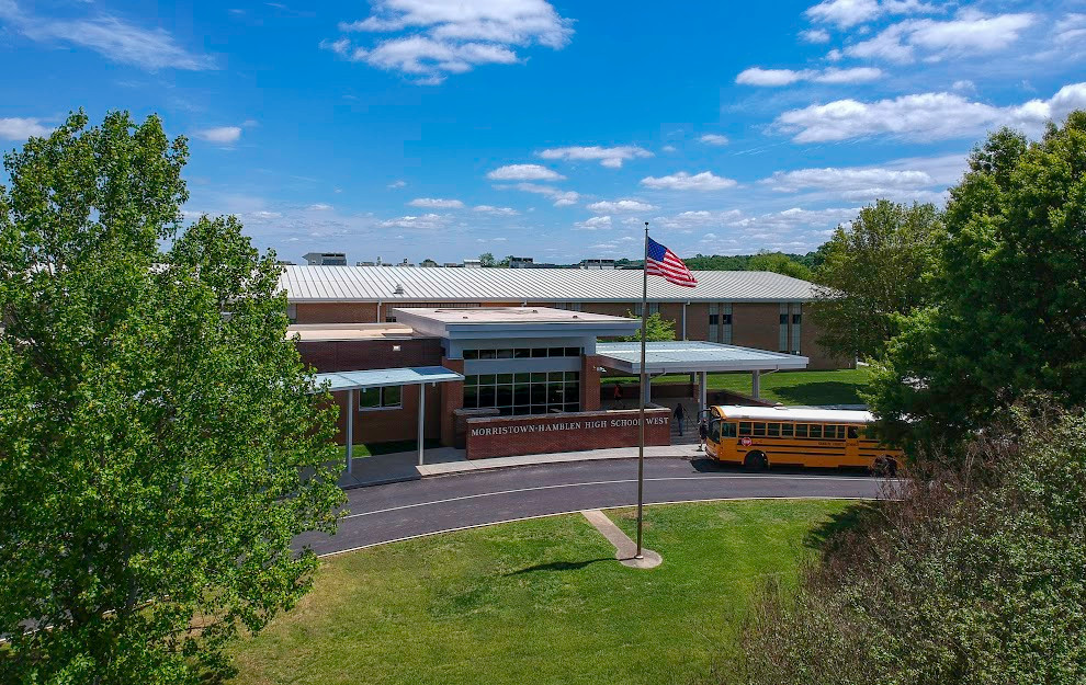 A front picture of West High.