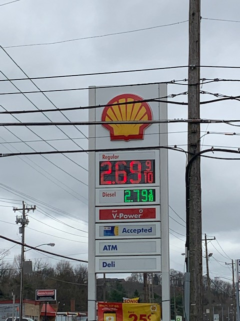 Gasoline prices go up ten cents from the previous weeks.