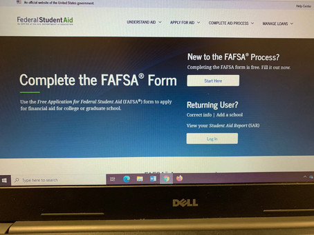 Time To Sign Up For FAFSA