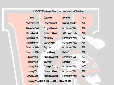 Freshmen Basketball Schedule