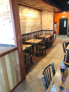 First look at the new Circle S Cattle dining room.