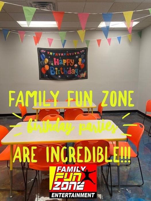 Birthday Party Advertisement, Courtesy of Family Fun Zone