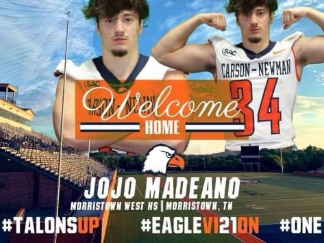 Madeano Signs to Play Football with Carson Newman University