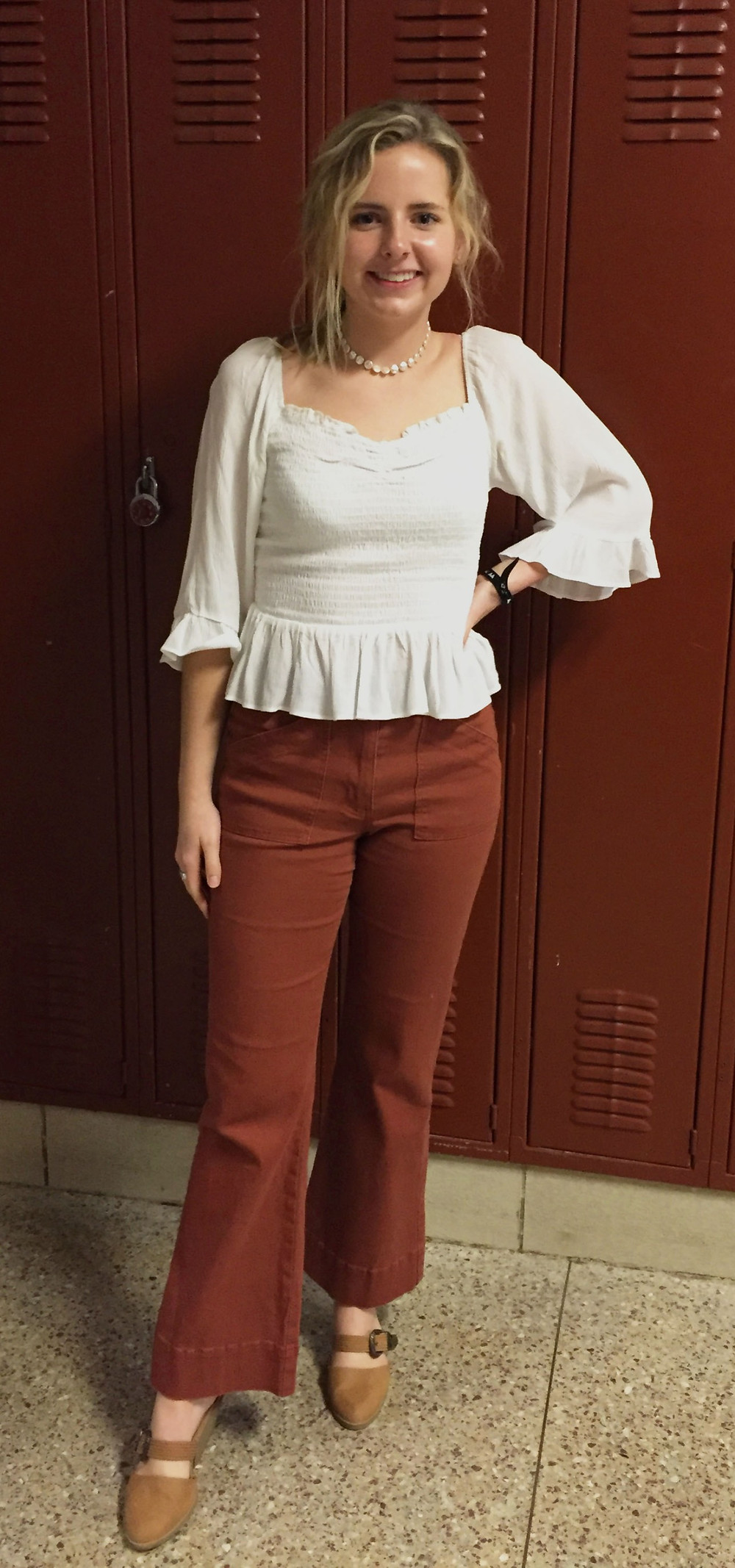 Senior Emmie Barnett models a dressy springtime look.