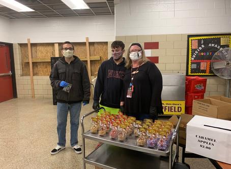 CDC Class Sells Caramel Apples