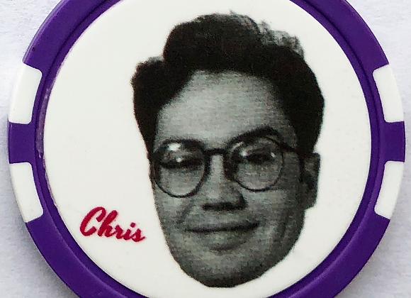 """Love Jones """"Chris"""" Poker Chip (4 of 5)"""