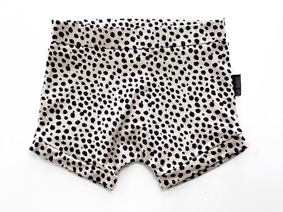 Korte broek beige met zwarte stip