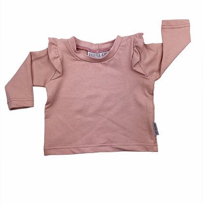 Shirt ruffle roze lange mouw