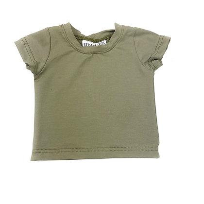 T-shirt korte mouw olijf groen