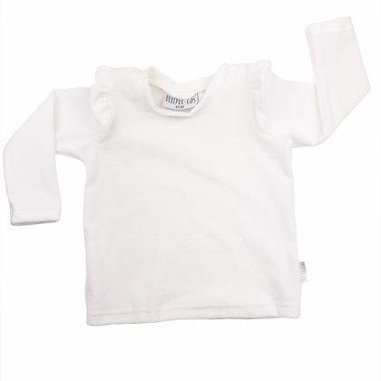 Sweater ruffle rib ecru