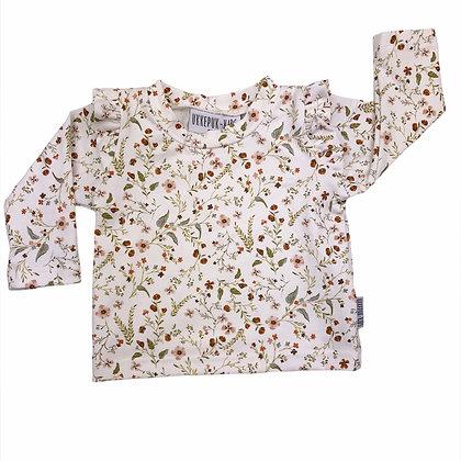 Shirt ruffle millefleur lange mouw