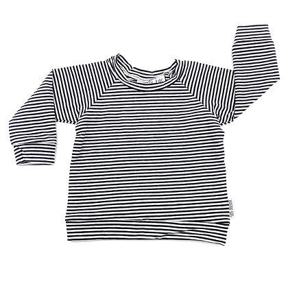 Sweater zwart/wit gestreept