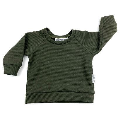 Sweater rib legergroen