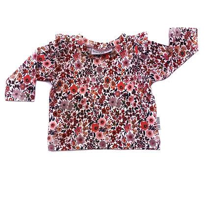 Shirt ruffle wilde bloemen lange mouw