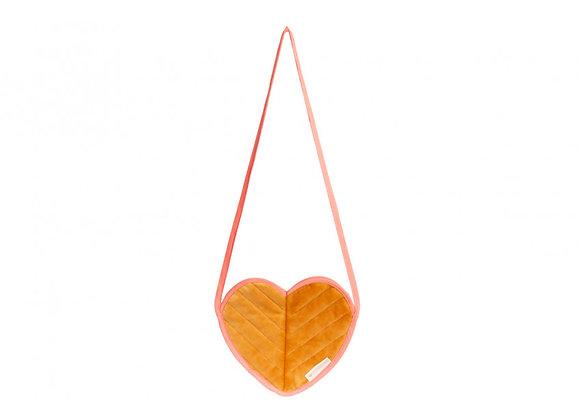Nobodinoz Love mini bag • Velvet geel