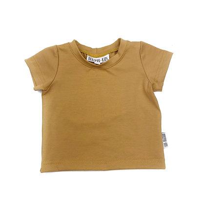 T-shirt korte mouw camel