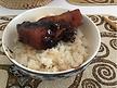 Porc au caramel avec son riz
