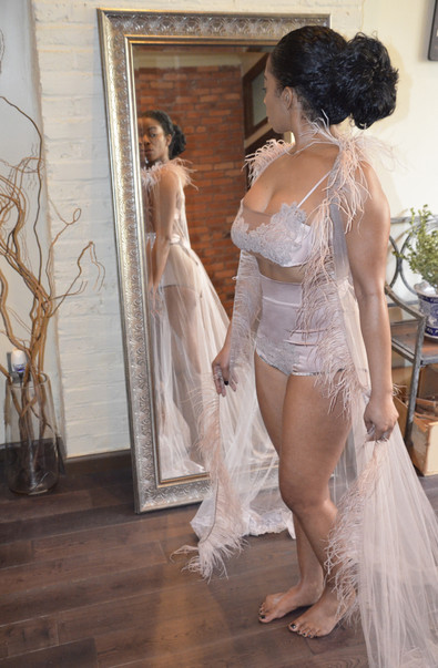 Model: Arie / Silk & Chiffon Lingerie by Amoralle