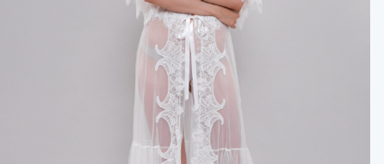 Catherine Tulle & Lace Robe