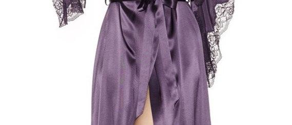 Estrella Stardom Long Kimono in Ink