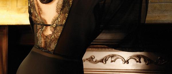 Metallic Metallic Lace Caftan Gown