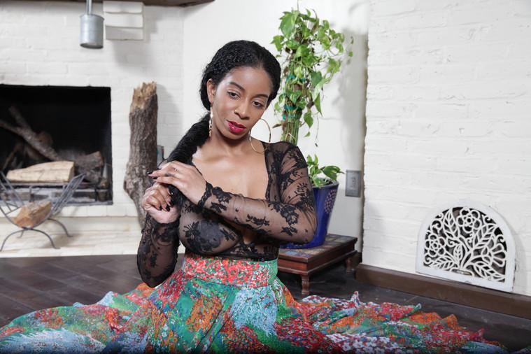 Model: Arie / Black lace bodysuit by Sonta Rapalyte