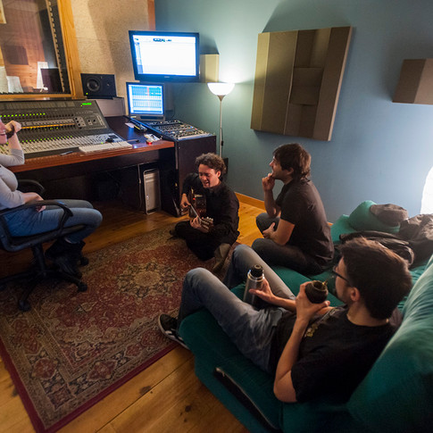 rehearsing at the control room By Pablo Leoni