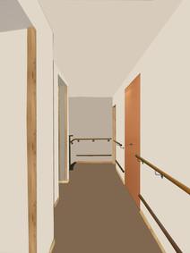 Collage Korridor Patienten
