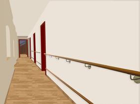 Collage Korridor Ärzte