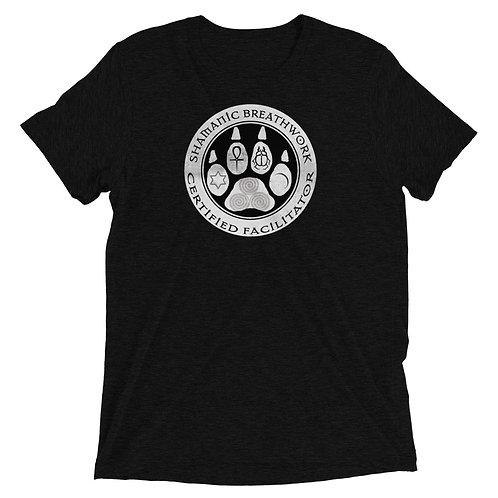 Unisex T-Shirt - Triblend - SBW - White Paw