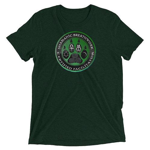 Unisex T-Shirt - Triblend - SBW - Green Paw