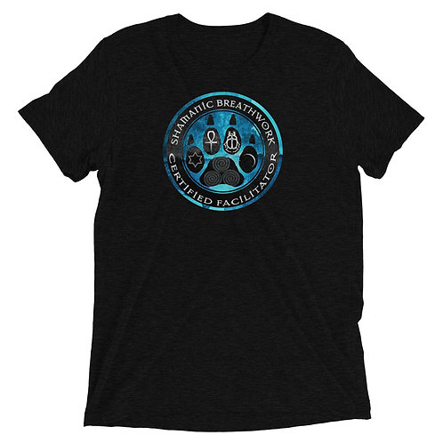 Unisex T-Shirt - Triblend - SBW - Blue Texture Paw