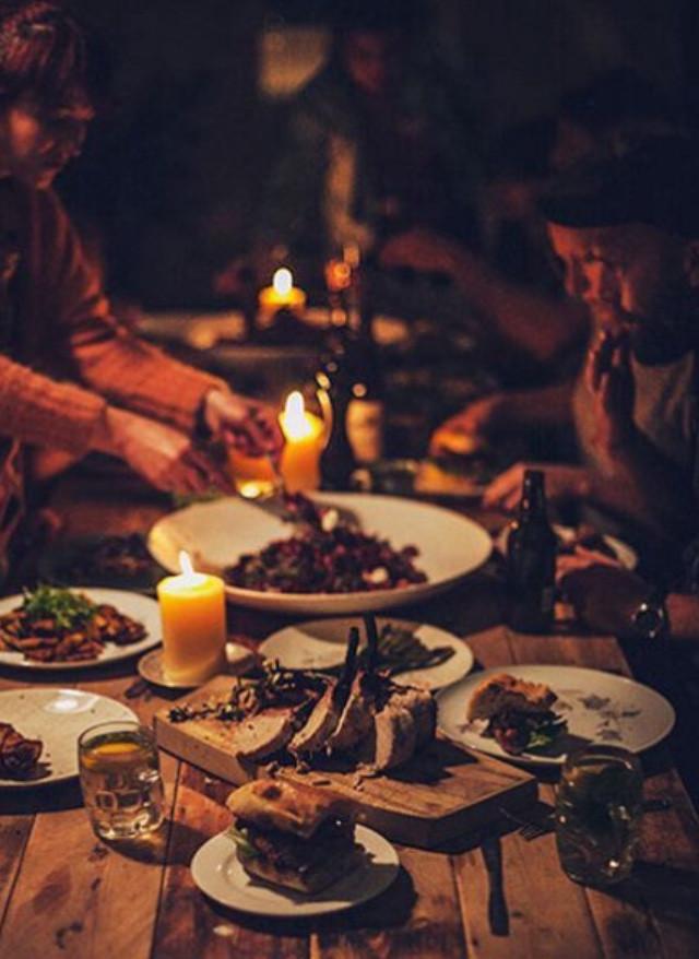 's avonds gezellig en lekker eten