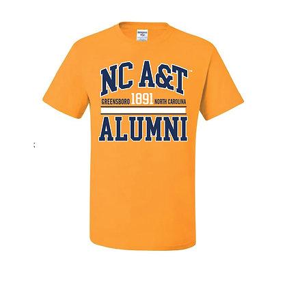 NCA&T066 Gold Alumni Short Sleeve