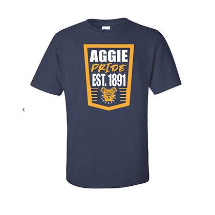 NCA&T176S Navy Aggie Pride Tee