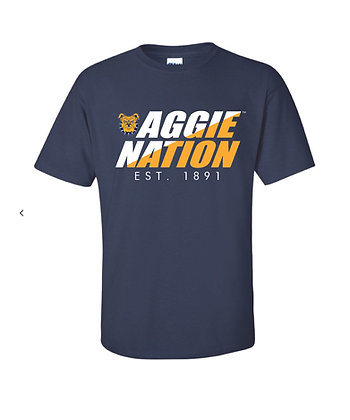 NCA&T169S Navy Aggie Nation Tee