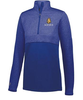NCA&T229 Ladies 1/4 Zip Pullover Jacket